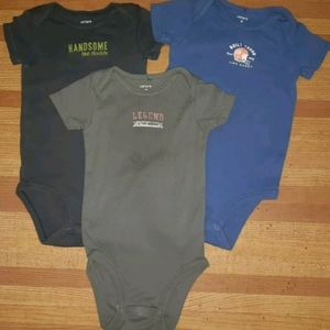 🌟🌟 Lot Of 3 Baby Boy 9 Months Carters Sleepers